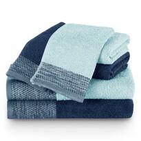 AmeliaHome Komplet ręczników Aria jasnoniebieski/ granatowy