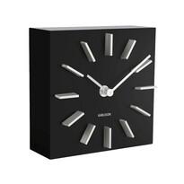 Karlsson KA5781BK Dizajnové stolné aj nástenné hodiny, 15 cm