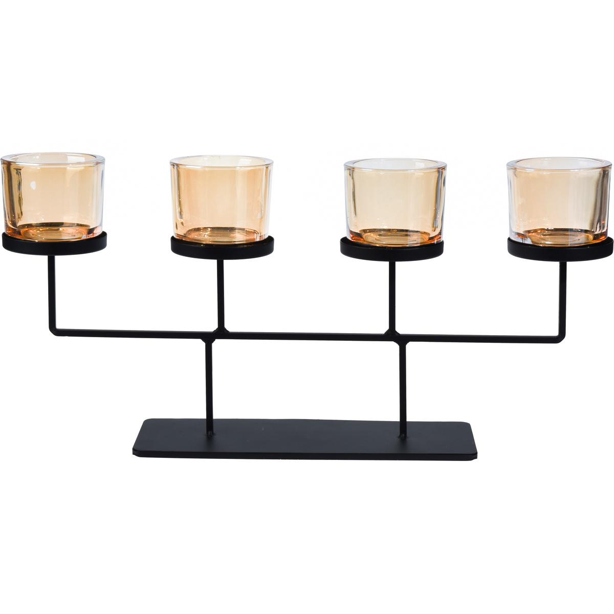 Svícen na čajové svíčky Valderas, 55 x 26 cm
