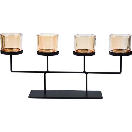 Svietnik na čajové sviečky Valderas, 55 x 26 cm