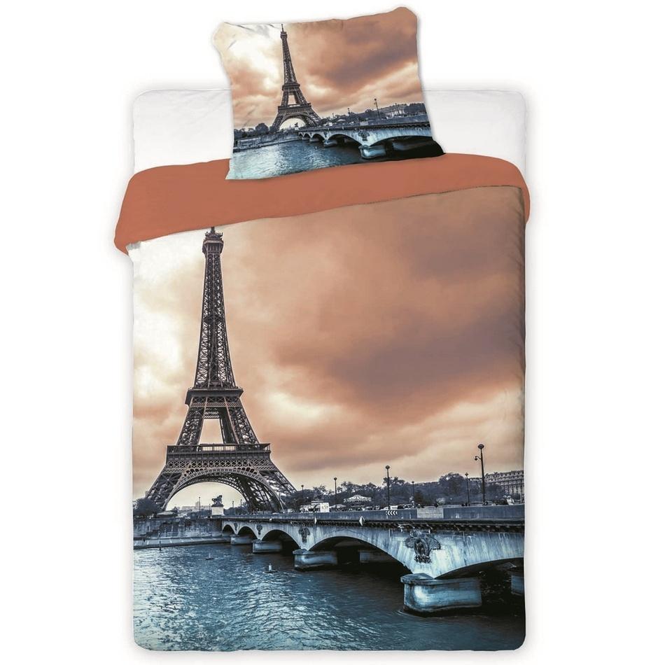 Jerry Fabrics bavlna povlečení fototisk -Paříž 2016 140x200 70x90