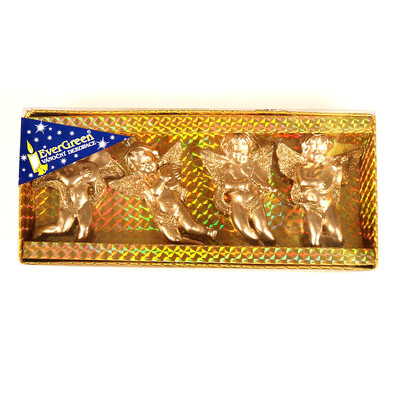 Ozdoba anděl, zlatá, v. 8 cm, sada 2 ks, zlatá