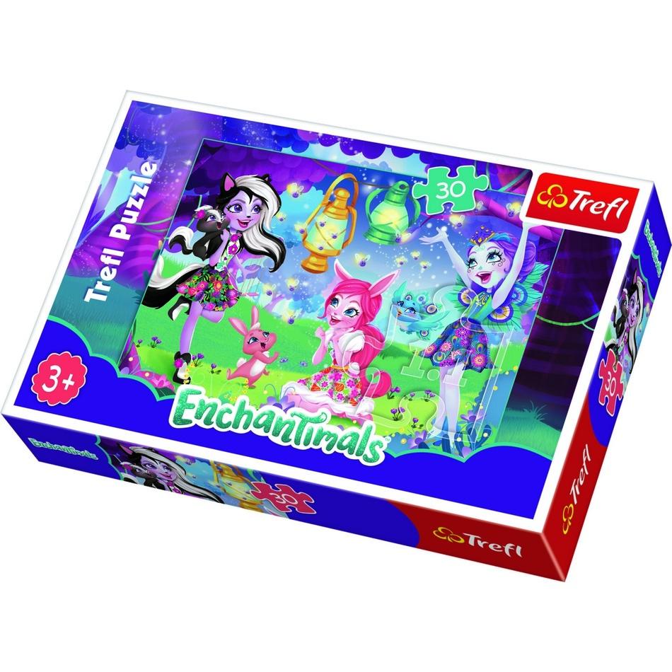 Produktové foto Puzzle TREFL Enchantimals: Magický svět 30 dílků