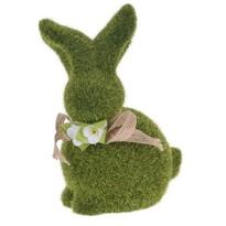 Velikonoční dekorace Zelený zajíček, 20 cm