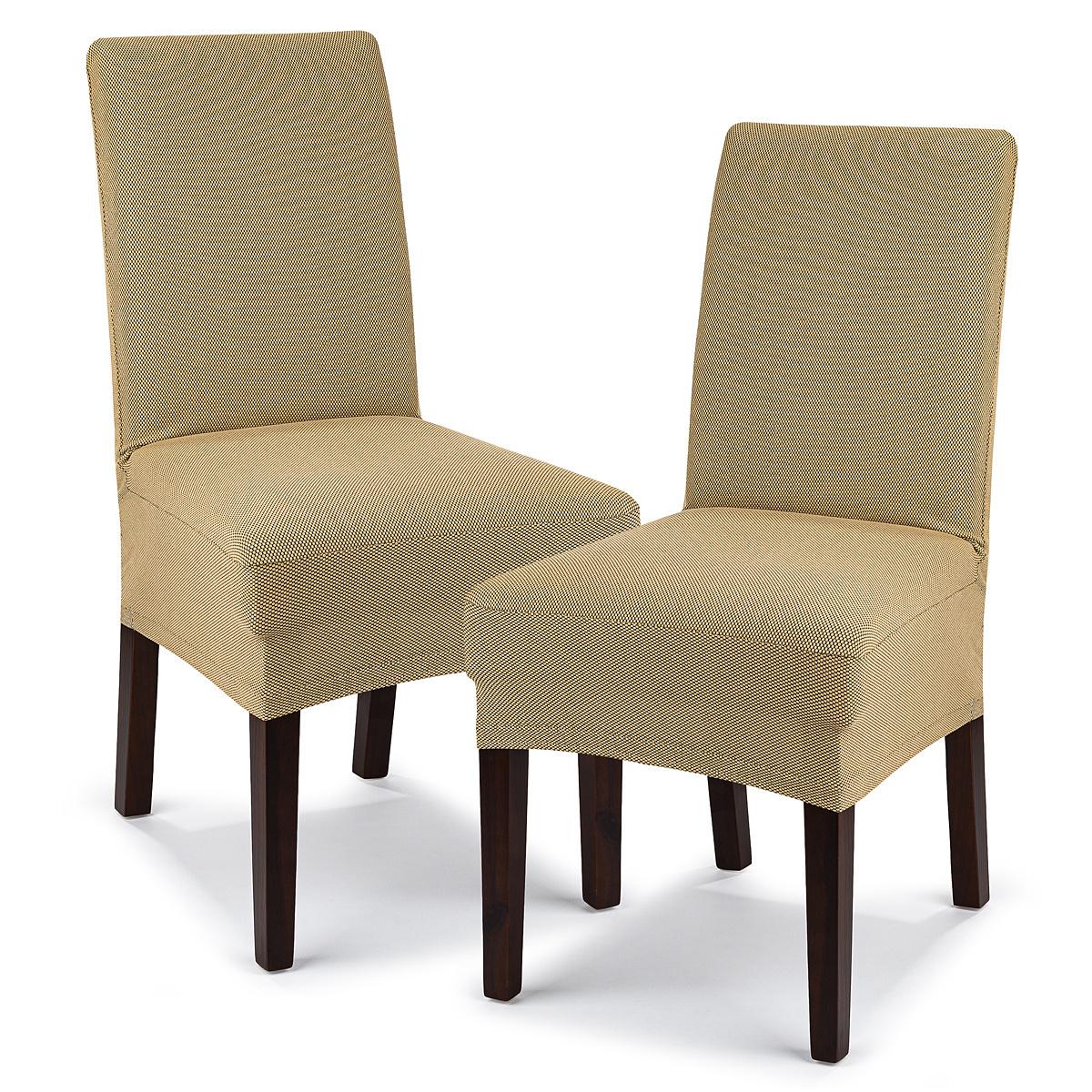 4Home Multielastický potah na židli Comfort béžová, 40 - 50 cm, sada 2 ks