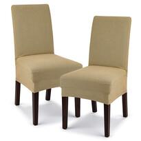 Husă multielastică 4Home Comfort pentru scaun, be j, 40 - 50 cm, set 2 buc.