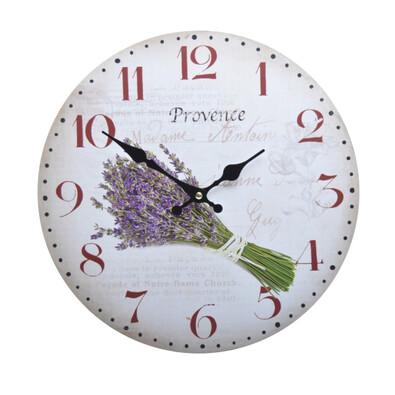 Nástěnné hodiny Levandule HLC180092