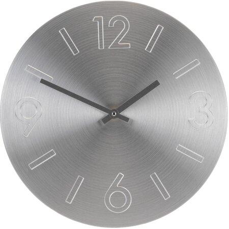 Nástěnné hodiny Atlanta stříbrná, 35 cm