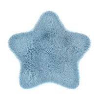 Domarex Sztuczna skóra Soft Star Plush niebieski 60 x 60 cm