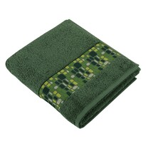Ręcznik kąpielowy Kamienie zielony, 70 x 140 cm