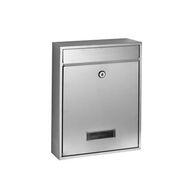 Poštovní nerezová schránka Crew, stříbrná