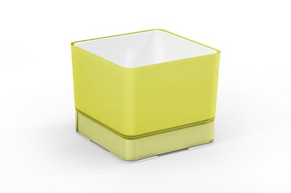 Plastový květináč Cube 120 žlutá