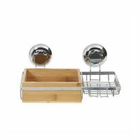 Compactor Bambusová polička s držákem na mýdlo Bestlock SPA Bamboo, 27,3 x 15 x 13,5 cm