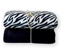 Fleecové deky, černá