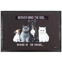 Domarex Salut Never mind the dog lábtörlő, 40 x 60 cm