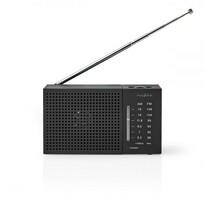 Nedis Vreckový rádioprijímač AM / FM 1,5 W, čierna