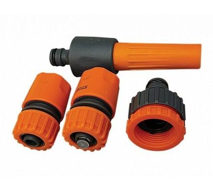 Zavlažovací sada s proudnicí, 4 ks, oranžová