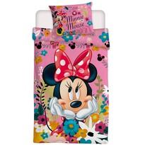Jerry Fabrics Detské obliečky Minnie Blossoms micro, 140 x 200 cm, 70 x 90 cm
