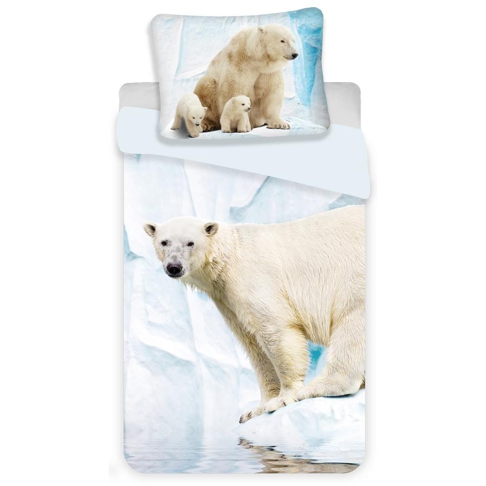 Jerry Fabrics Dětské bavlněné povlečení Polar Bear, 140 x 200 cm, 70 x 90 cm