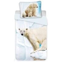 Jerry Fabrics Polar Bear gyermek pamut ágynemű, 140 x 200 cm, 70 x 90 cm