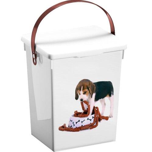 Kutyás szárazeledeltartó doboz, 5 l, 23,5 x 18 x 16,5 cm