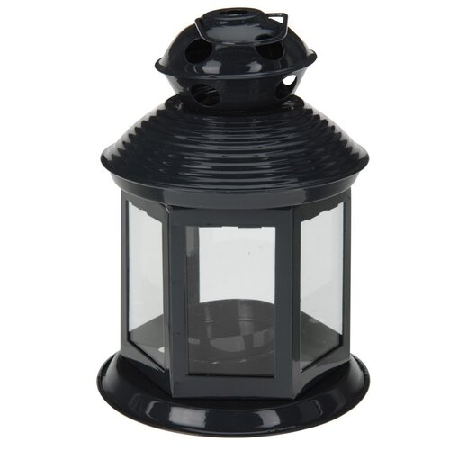 Koopman Lucerna na čajovou svíčku Colorido, černá
