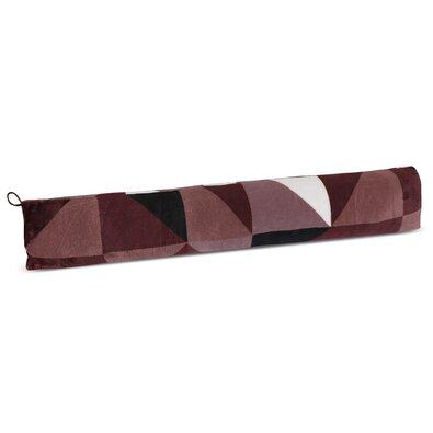 Valec tesniaci LIN UNI Trojuholníky hnedá, 90 x 15 cm