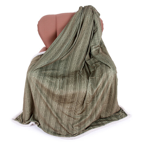 Agnello gyapjú pléd zöld, 150 x 200 cm