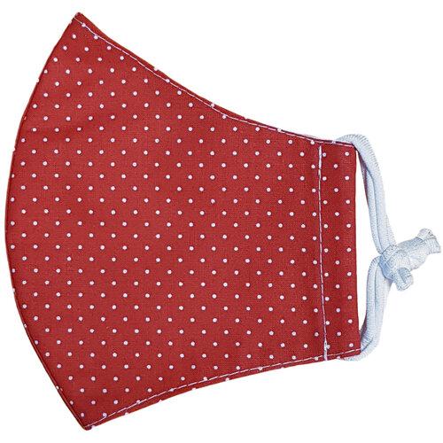 Ústní bavlněná rouška Puntík mini červená