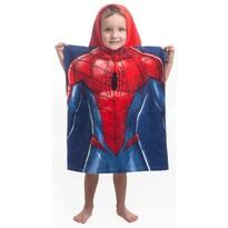 Poncho Jerry Fabrics Spiderman blue, pentru copii, 55 x 115 cm