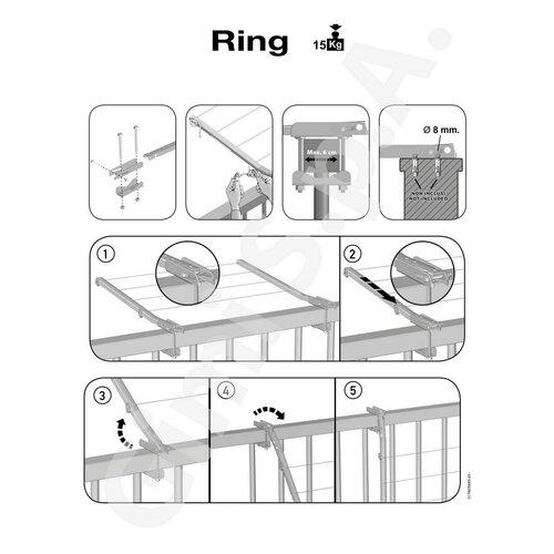 Gimi Sušák na prádlo balkonový Ring