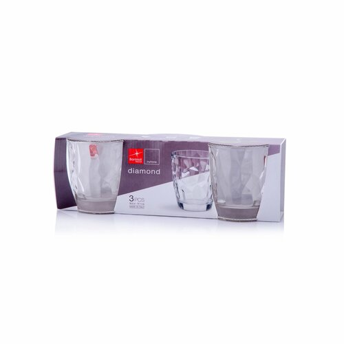 Set de pahare Bormioli Rocco Diamond, 3 piese, 300 ml