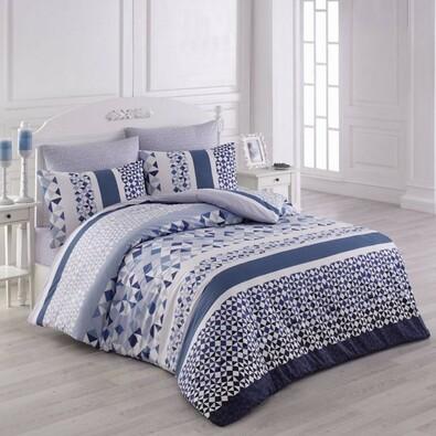Bavlnené obliečky Laviva modrá, 140 x 200 cm, 70 x 90 cm