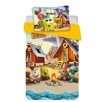 Sponge Bob baby gyerek pamut ágynaműhuzat kiságyba, 100 x 135 cm, 40 x 60 cm