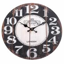 Drevené nástenné hodiny Kensington, pr. 34 cm