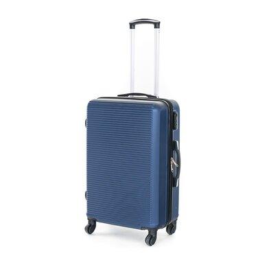 Pretty UP Cestovní skořepinový kufr ABS03 M, modrá