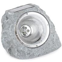 Koopman Vonkajšie solárne svietidlo Stone light svetlosivá, 4 LED
