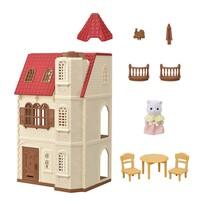 Sylvanian families 5400 - casă cu turn șiacoperiș roșu