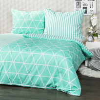 Lenjerie bumbac 4Home Galaxy, verde