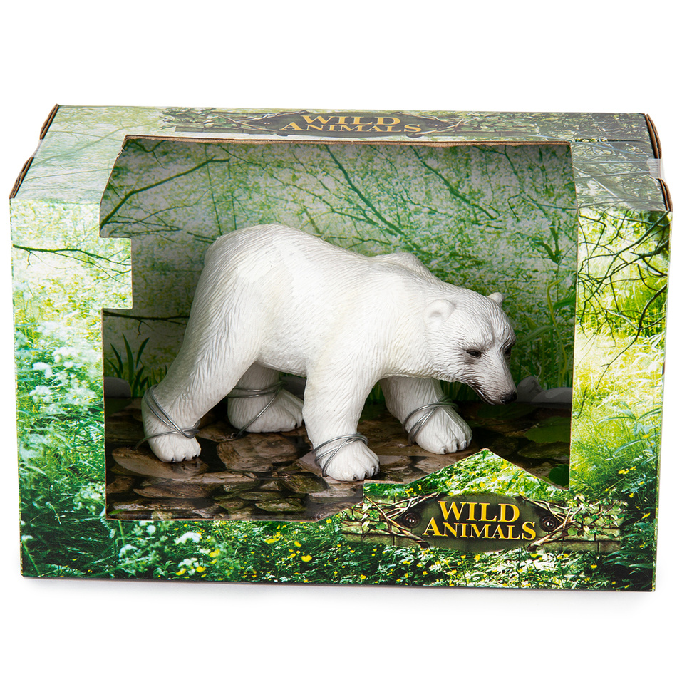 Ľadový medveď biela, 14 cm