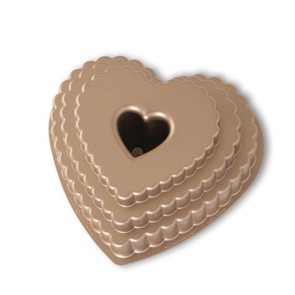 Forma na bábovku Patrové srdce Nordic Ware