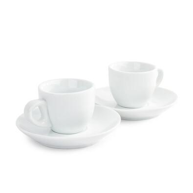 Domestic Espresso 2 csésze és 2 csészealj készlet, 80 ml