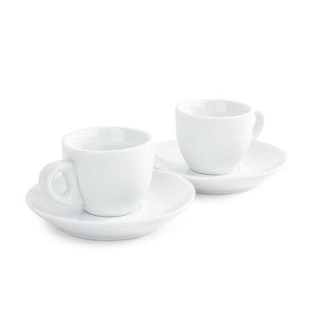 Domestic sada 2 šálků a 2 podšálků na Espresso, 80 ml