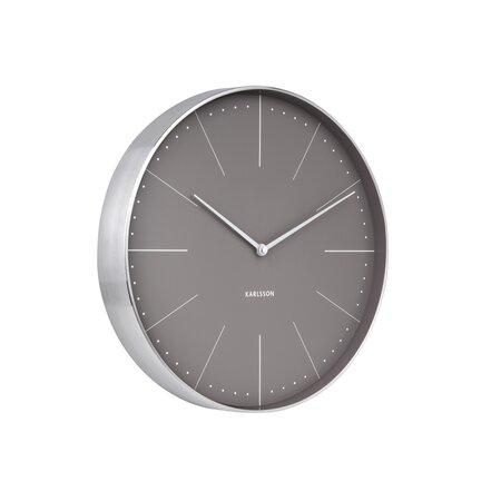 Karlsson 5681GY Designové nástenné hodiny, 38 cm