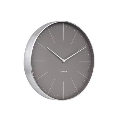 Karlsson 5681GY Designové nástěnné hodiny, 38 cm