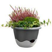 Samozavlažovací květináč Mareta 30 antracit, závěsný