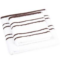 Snow kéztörlő és törölköző szett, barna, 50 x 100 cm, 70 x 140 cm
