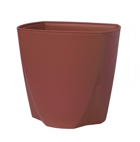 Plastový kvetináč Camy 21 cm, rubínová, Plastia, pr. 21 cm