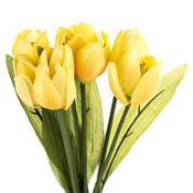 Umělá květina tulipán 9 ks, žlutá