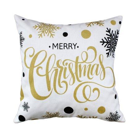 Domarex Vánoční povlak na polštářek Veselé Vánoce bílá, 45 x 45 cm